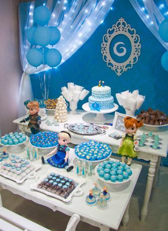 festa infantil frozen para a princesa giovana